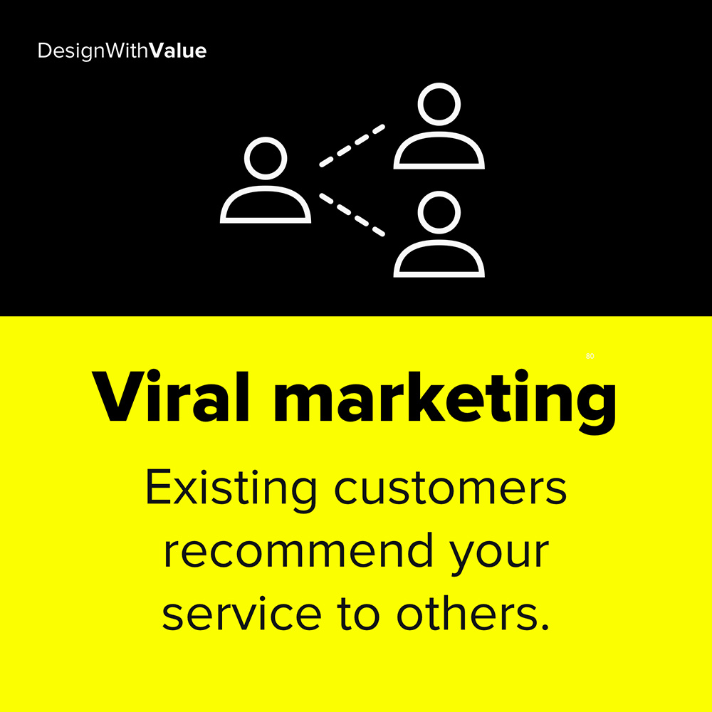 viral marketing means existing customers recommend your service to others