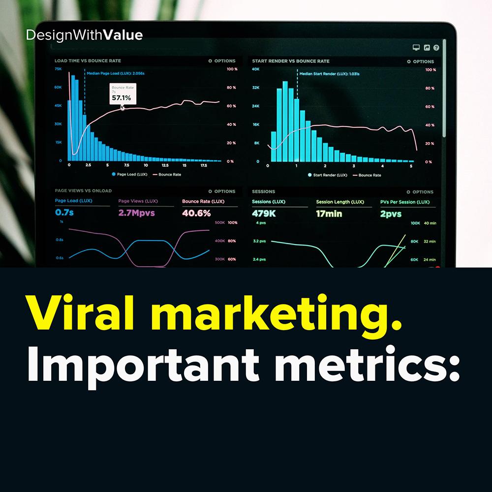 viral marketing. important metrics: