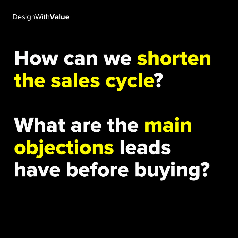 how can we shorten the sales cycle?