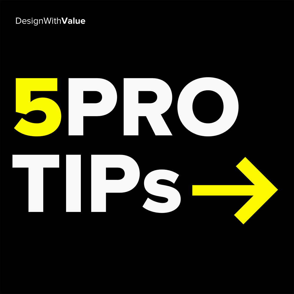 5 pro tips: