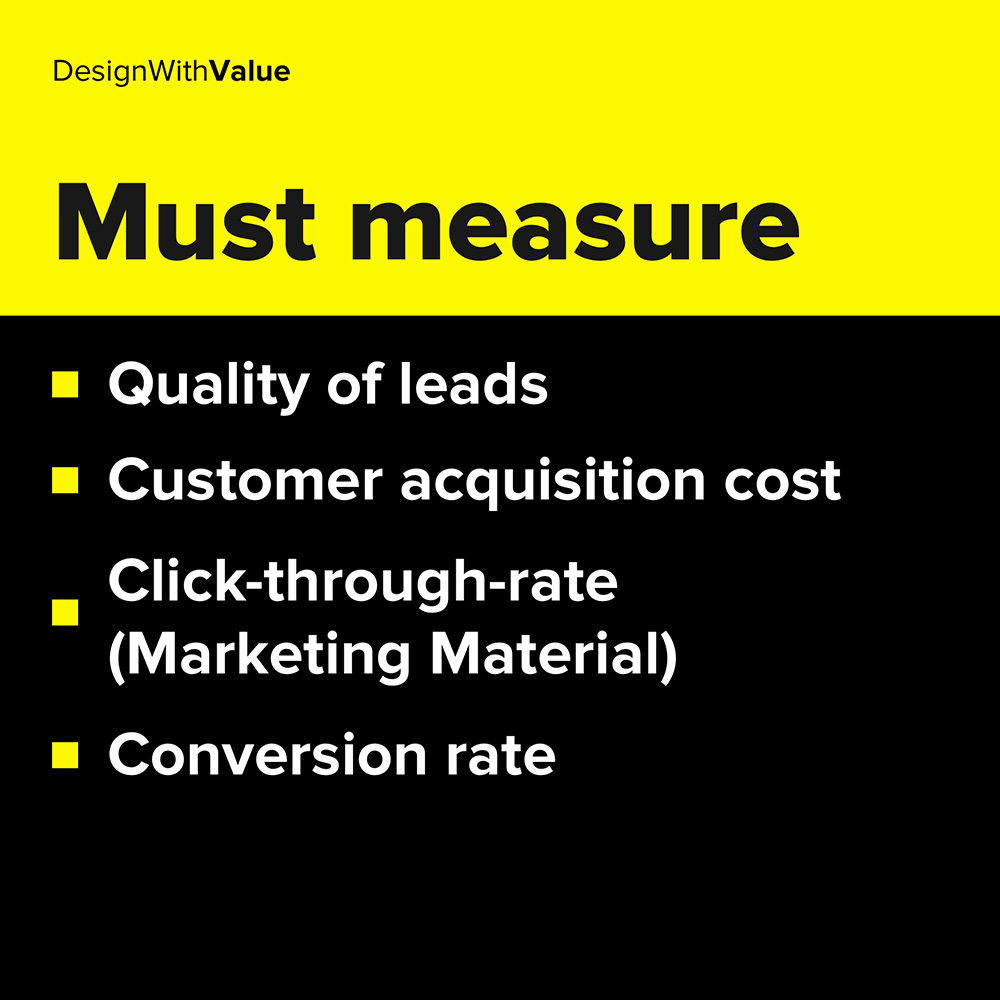 quality of leads, conversion rate