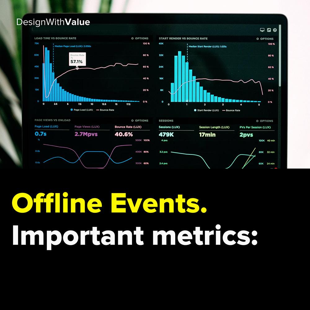 offline events. important metrics: