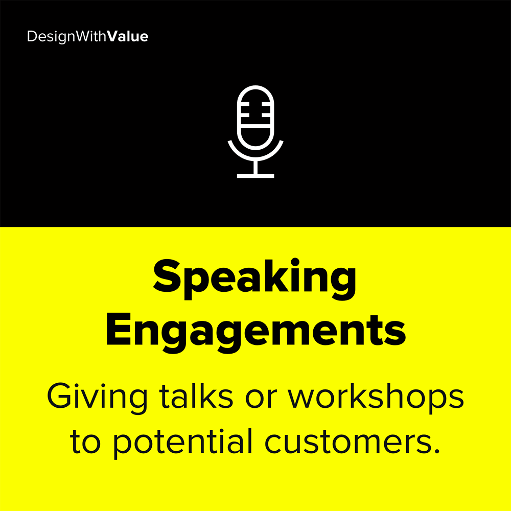 Speaking engagement as a traction channel means giving talks or workshops.