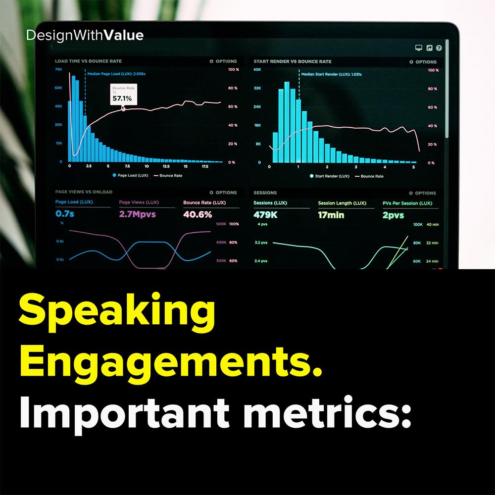 speaking engagement. important metrics: