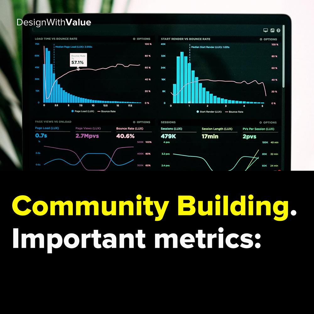 community building. important metrics: