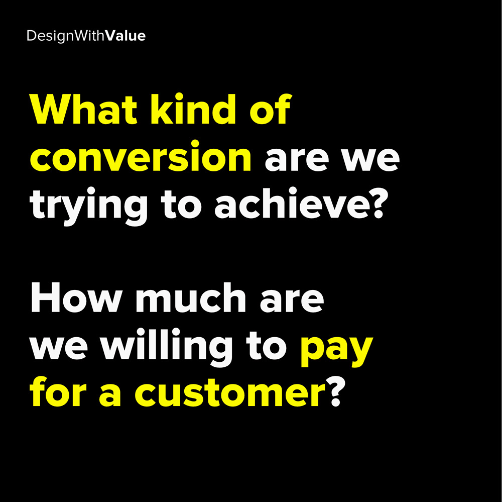 what kind of conversion are we trying to achieve?
