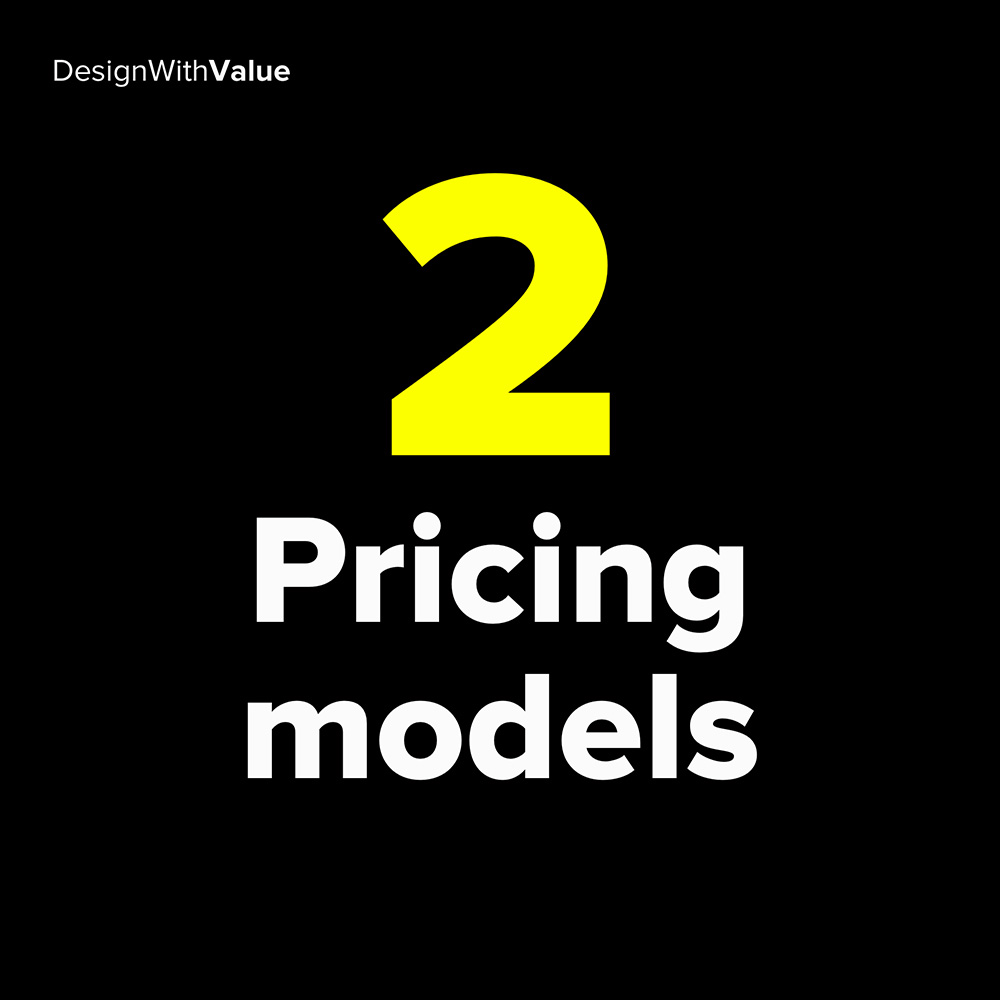 2 pricing models: