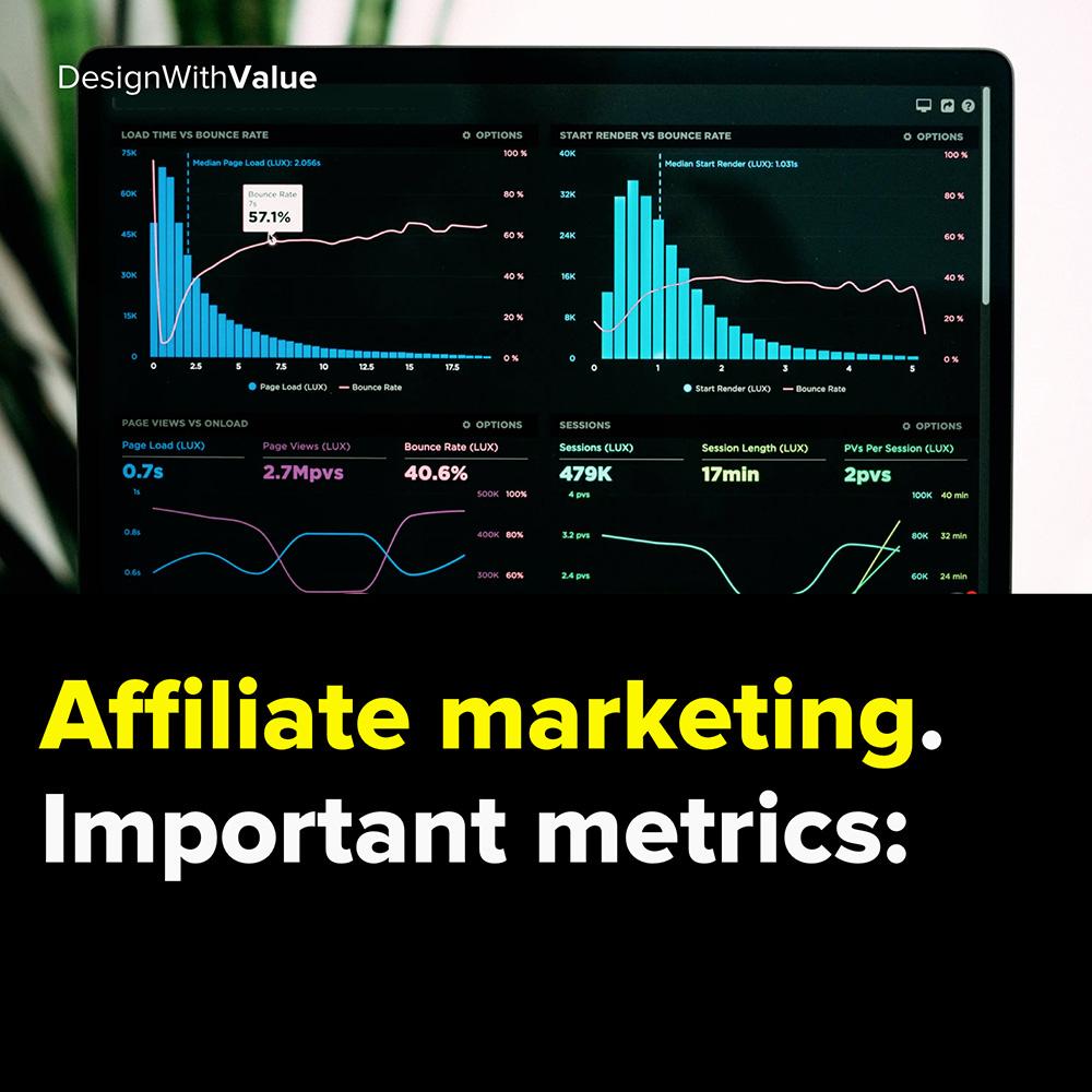 affiliate marketing. important metrics: