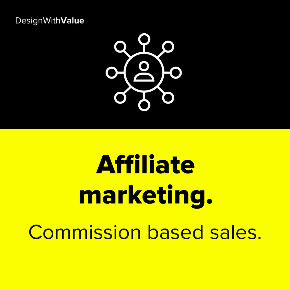 affiliate marketing are commission based sales