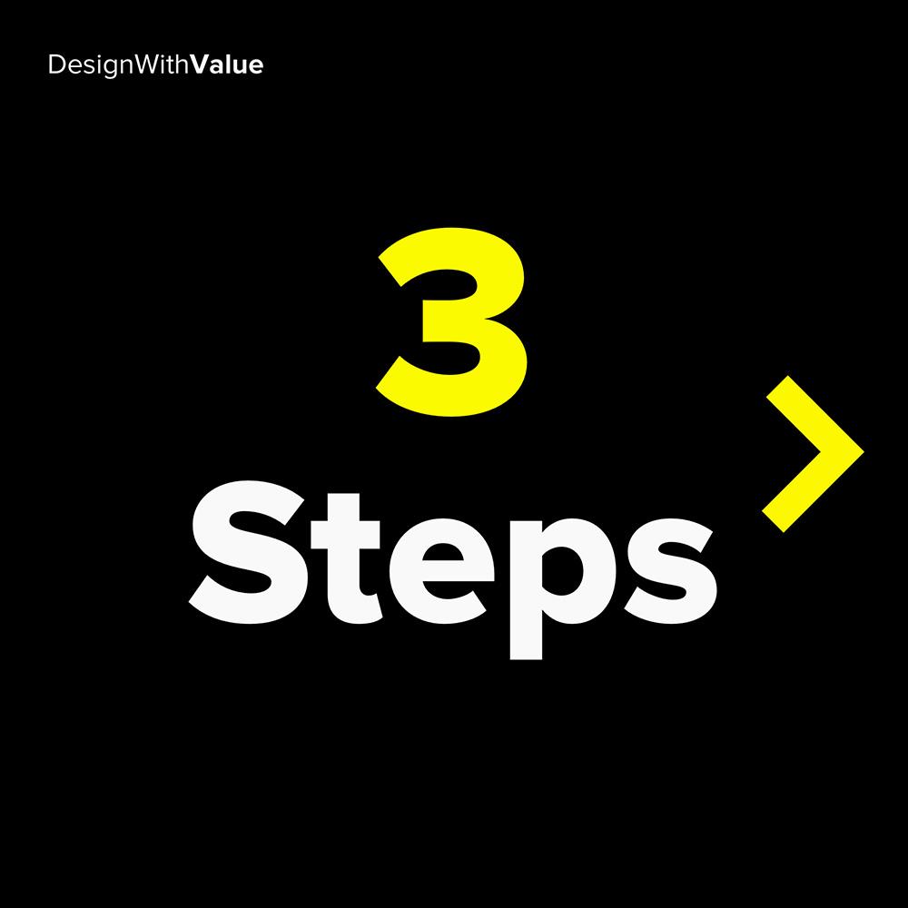 3 steps:
