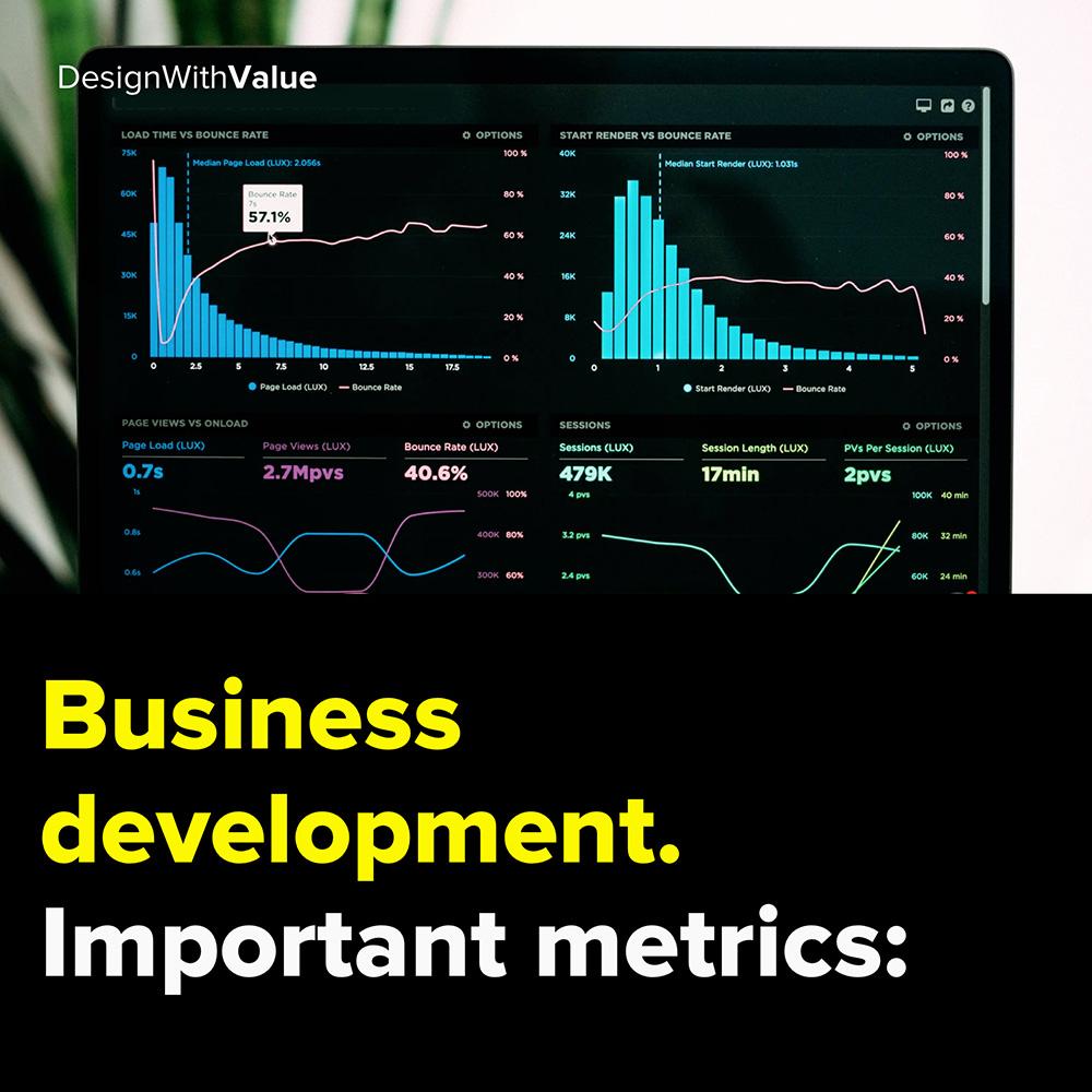 business development. important metrics: