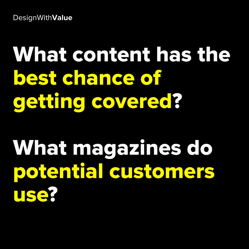what content has the best chance of getting covered?