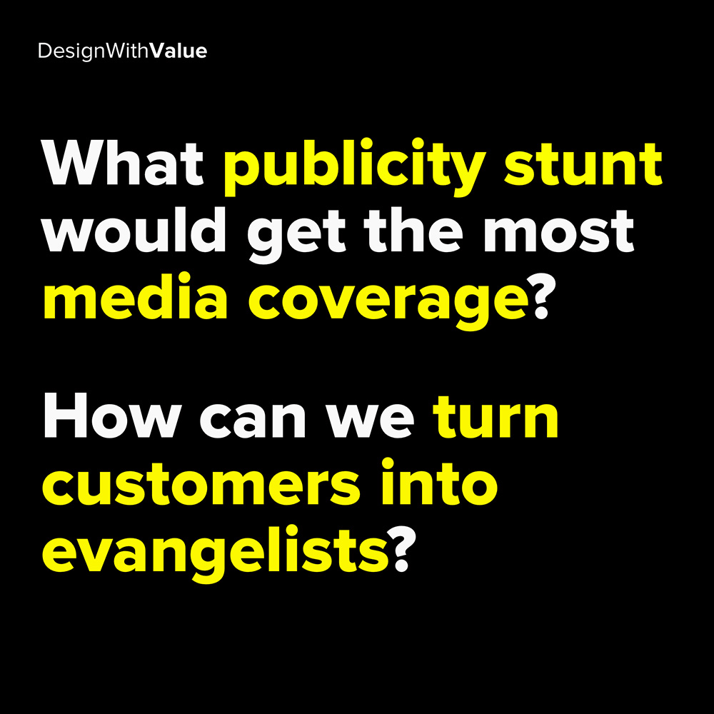 what publicity stunt would get the most media coverage?