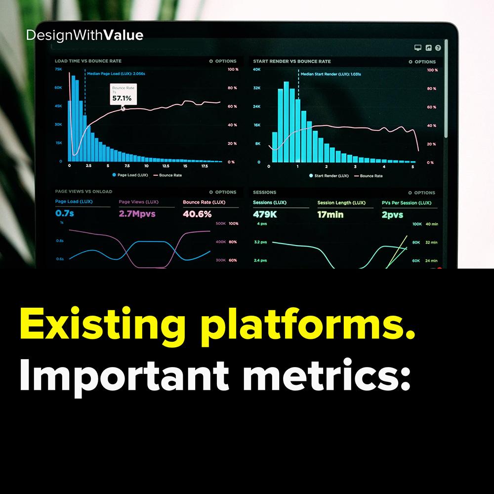 existing platforms. important metrics: