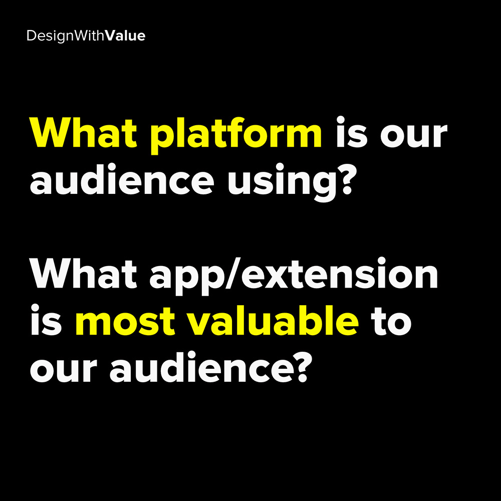 what platform is our audience using?