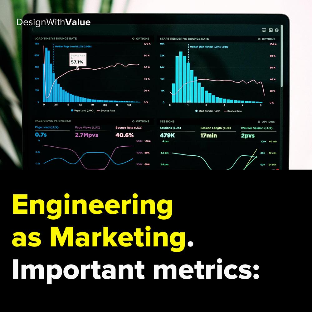 engineering as marketing. important metrics