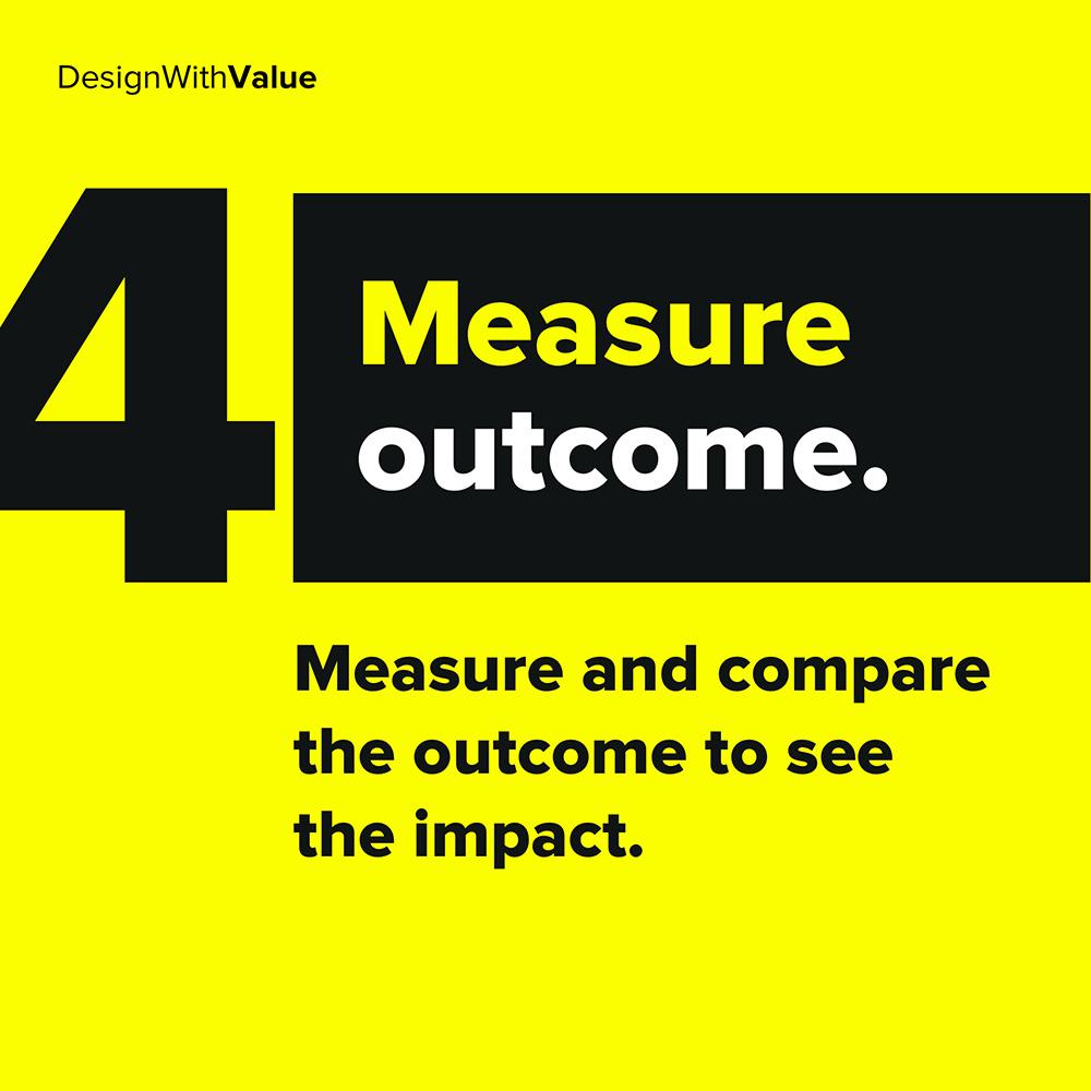 4. measure outcome