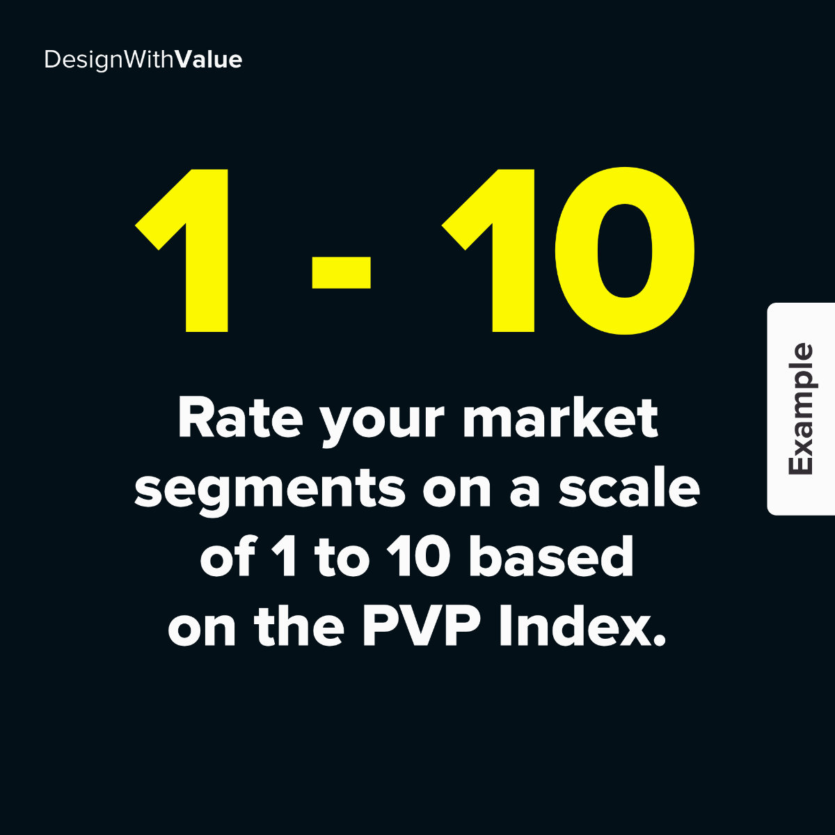 Rate your market segments on a scale of 1 to 10 based on the PVP index
