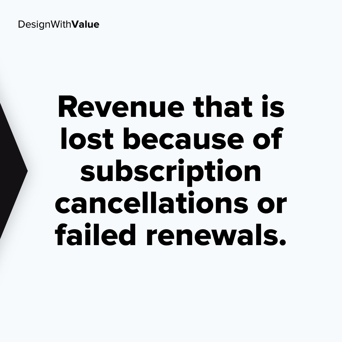 Revenue that is lost because of subscription cancellations or failed renewals