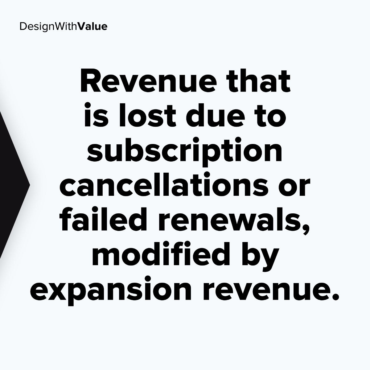 Revenue that is lost due to subscription cancellations or failed renewals, modified by expansion revenue