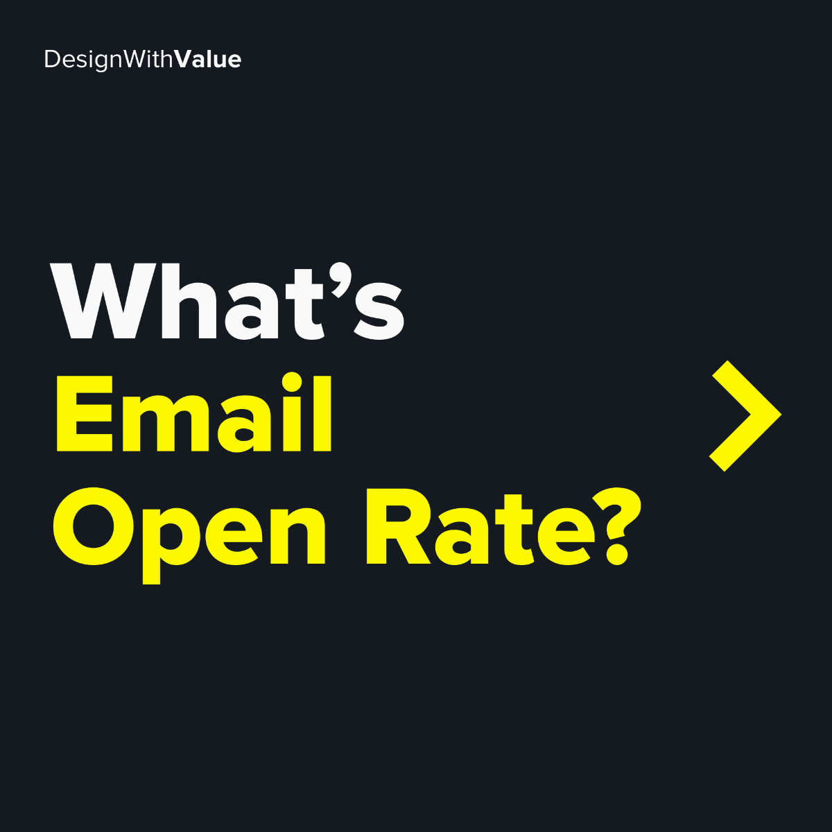 What's email open rate?