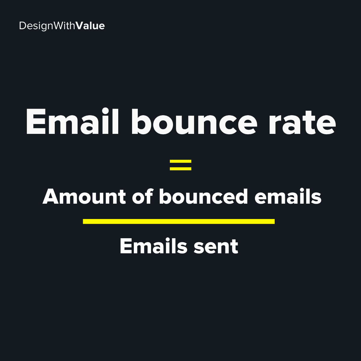 Email bounce rate calculation