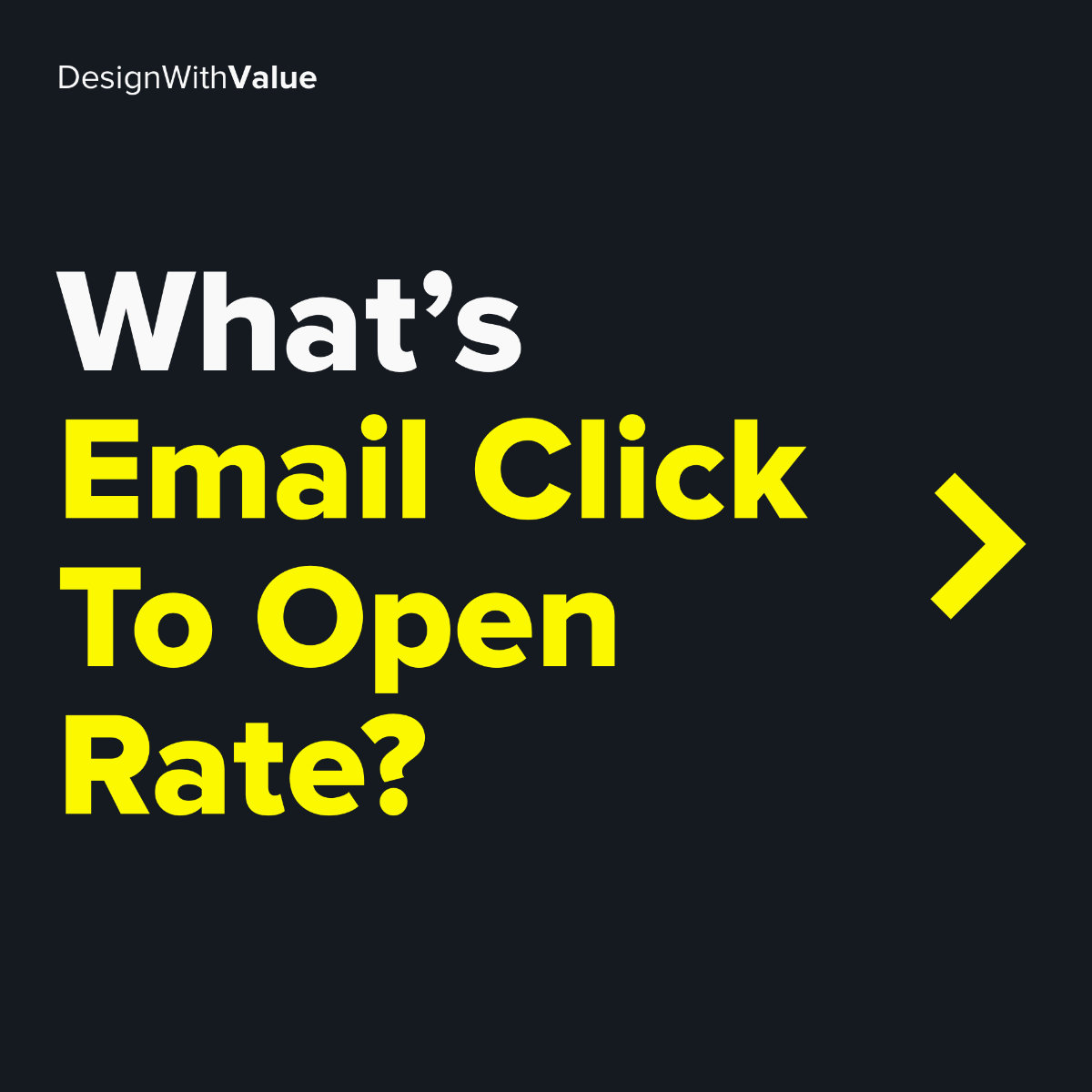 What's email click to open rate?