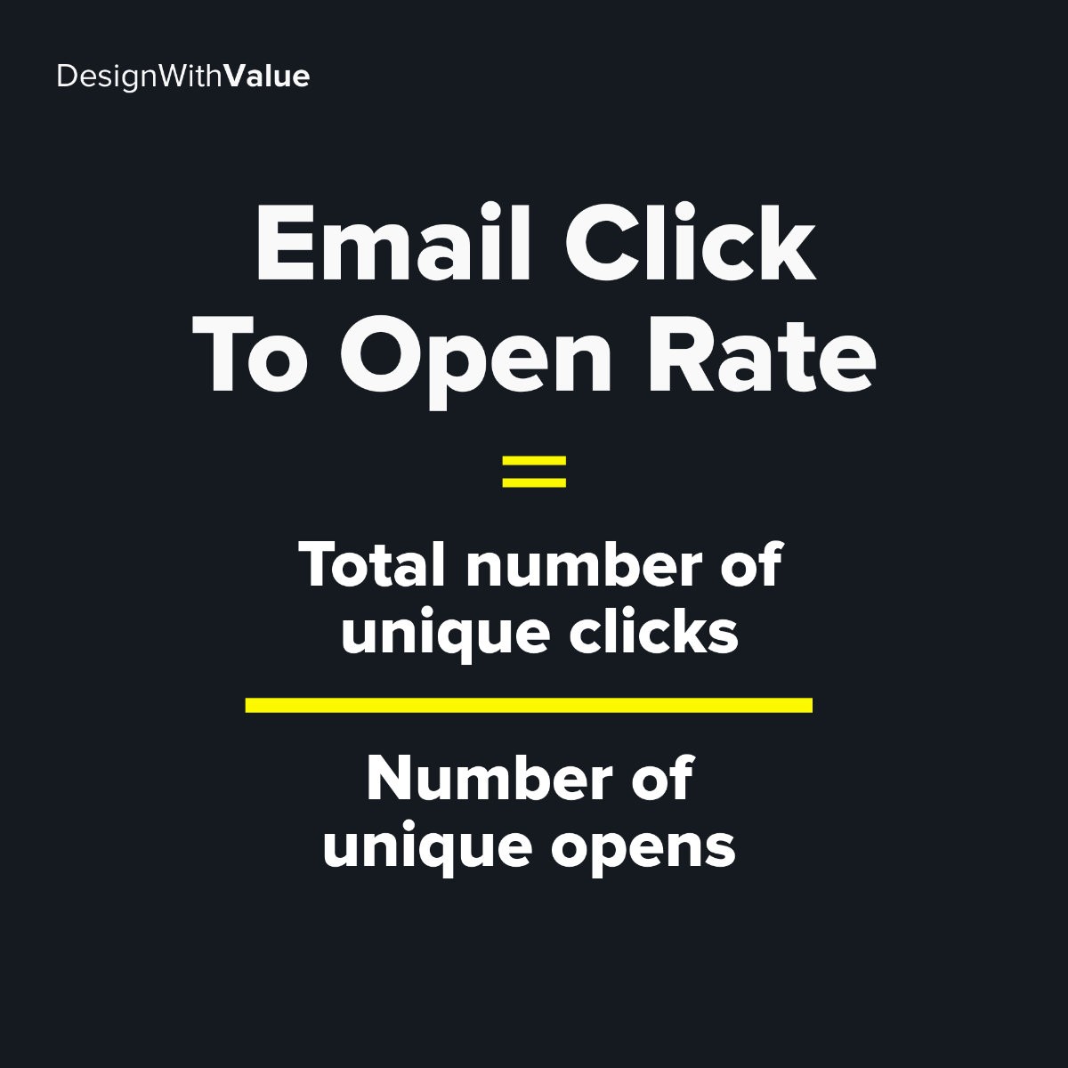 Email click to open rate calculation