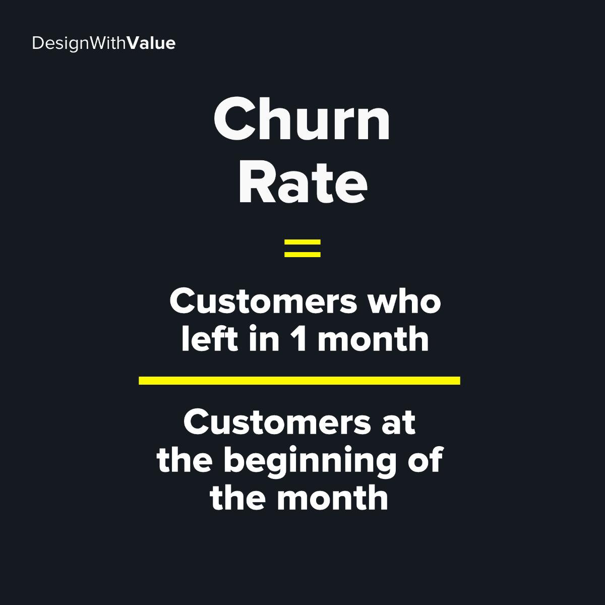 Churn rate calculation