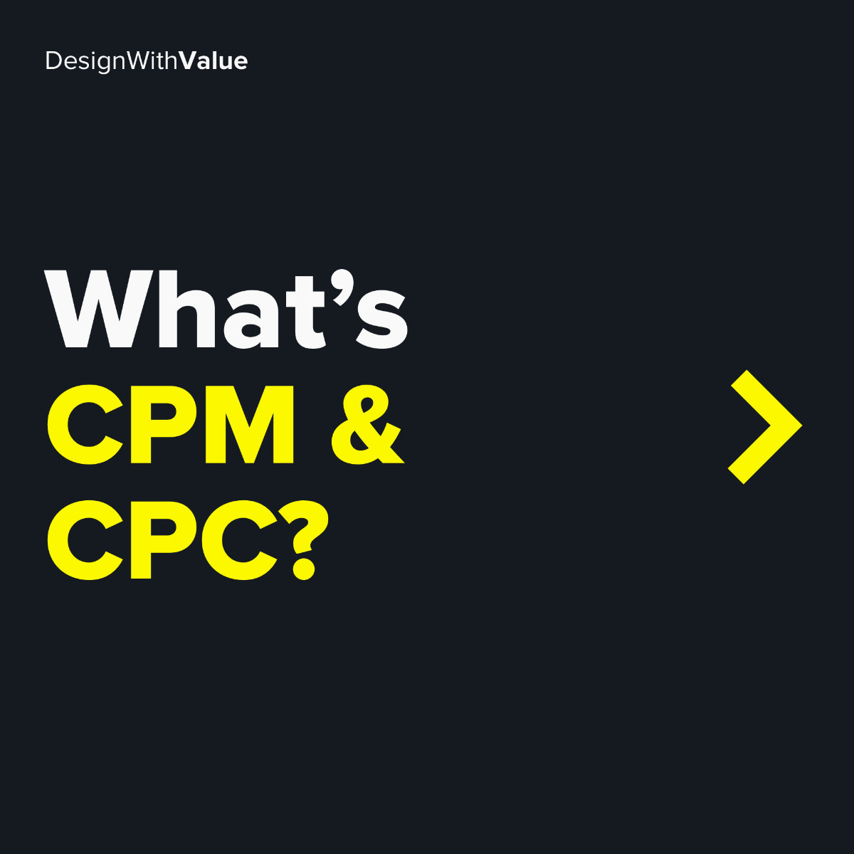 What's CPM and CPC?