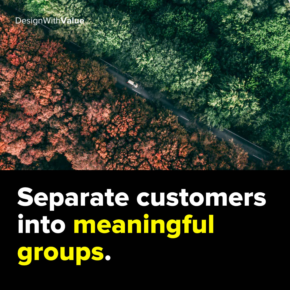Separate customers into meaningful groups