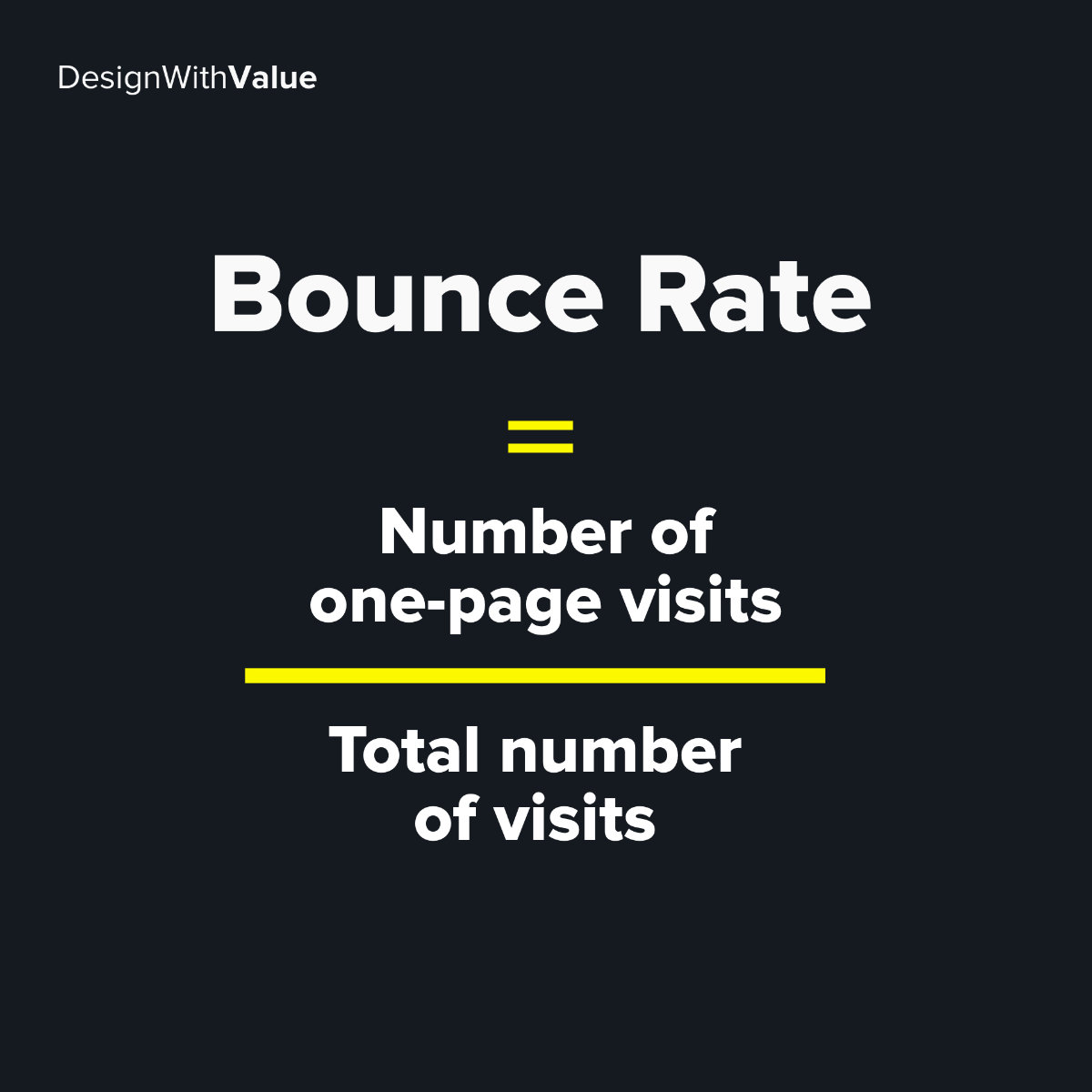 Bounce rate calculation