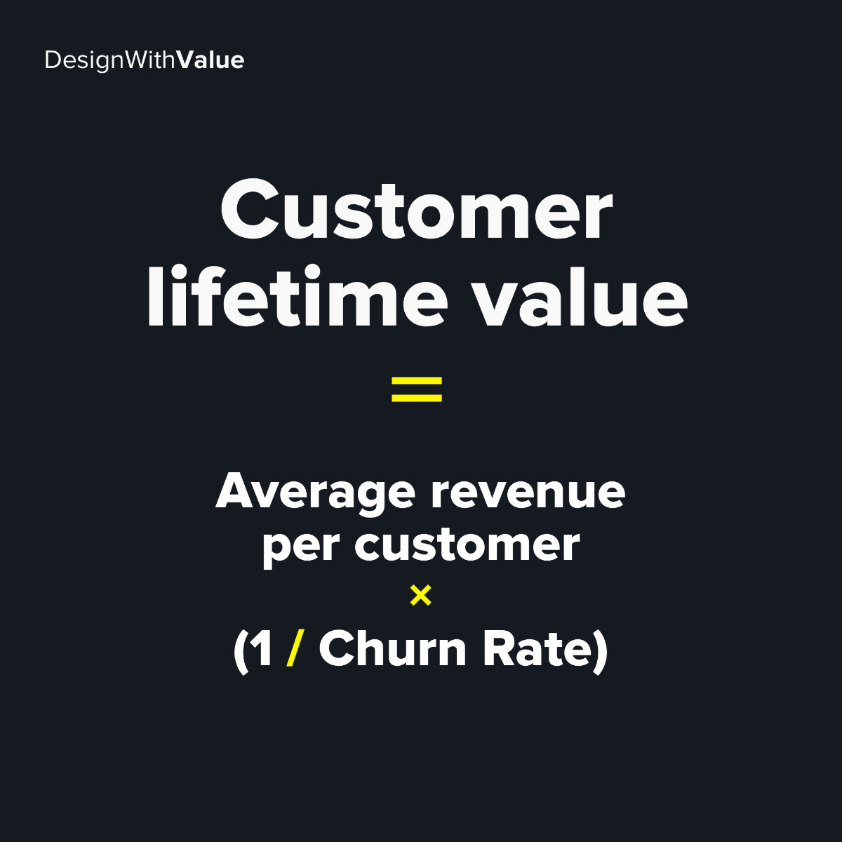 Customer lifetime calculation