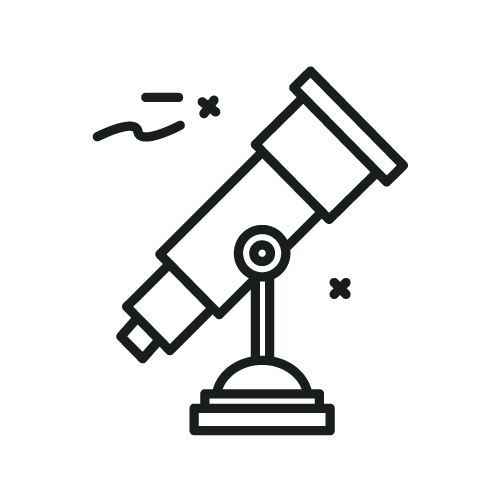 telescope pointed up icon