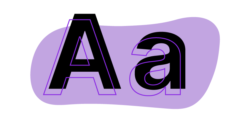 Capital A and Lower case A, icon