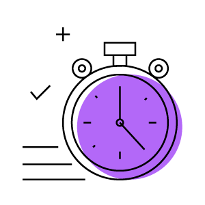 Clock moving fast icon