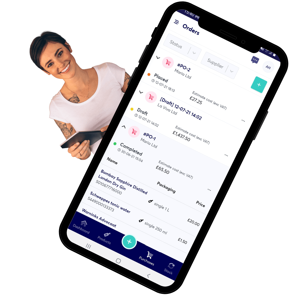 Tracking suppliers app
