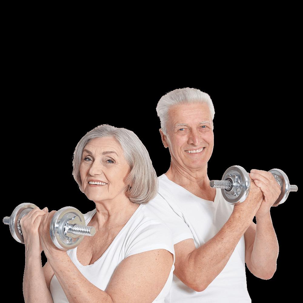 Bild von Senioren beim Sport