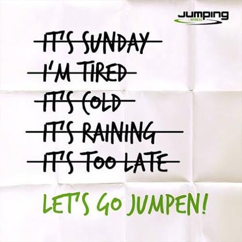 Bild eines motivierendes Poster für Jumping Fitness
