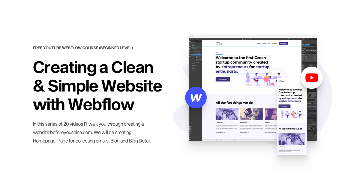 Creating a Clean & Simple Website with Webflow – Free Youtube Course