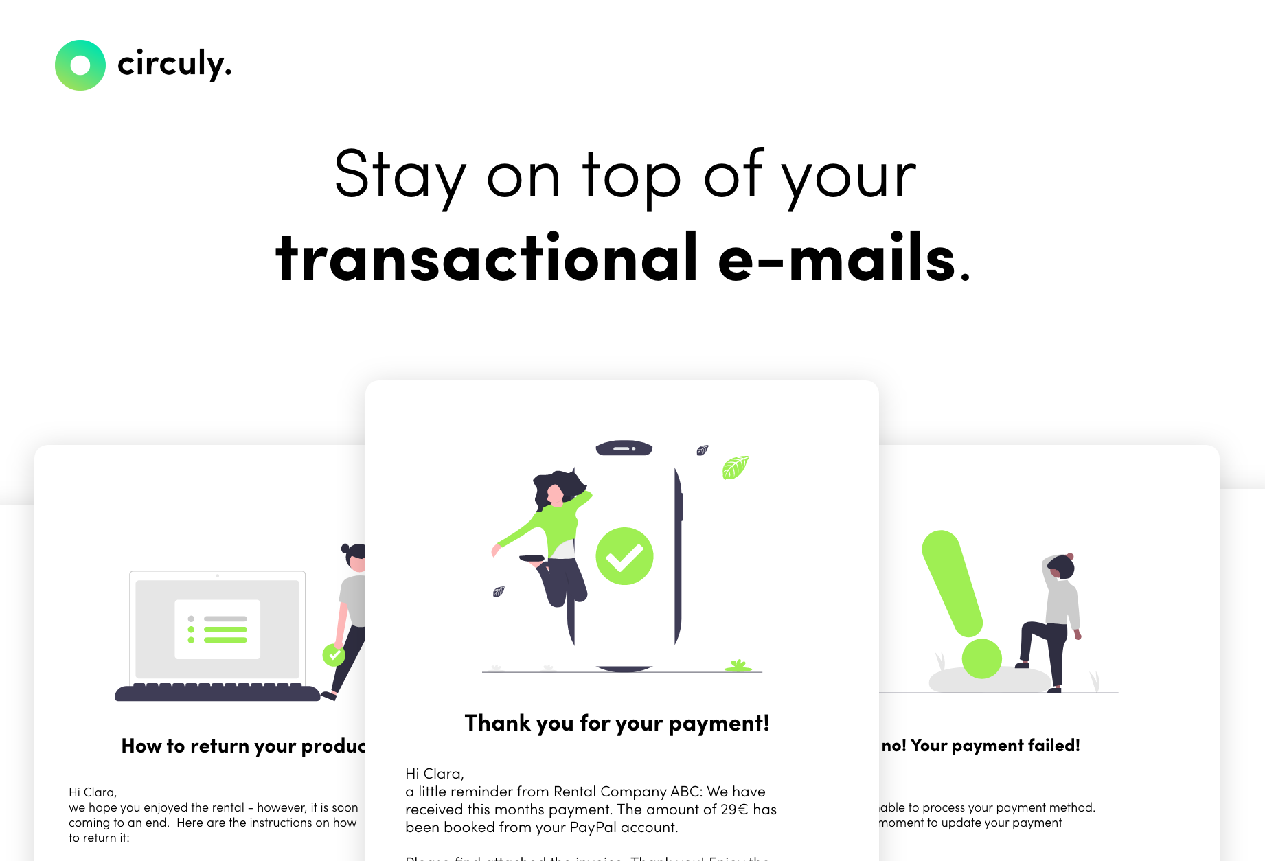 Feature Release: Transactional E-Mail Automation