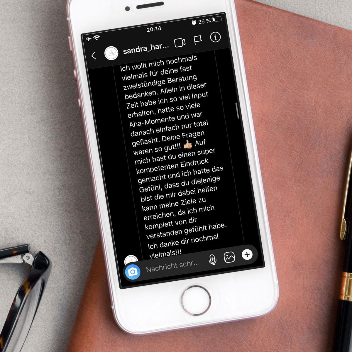 BRAVE & BUTT Brandberatung: Bewertung von Sandra Hartwig Schreibwaren  auf dem iPad