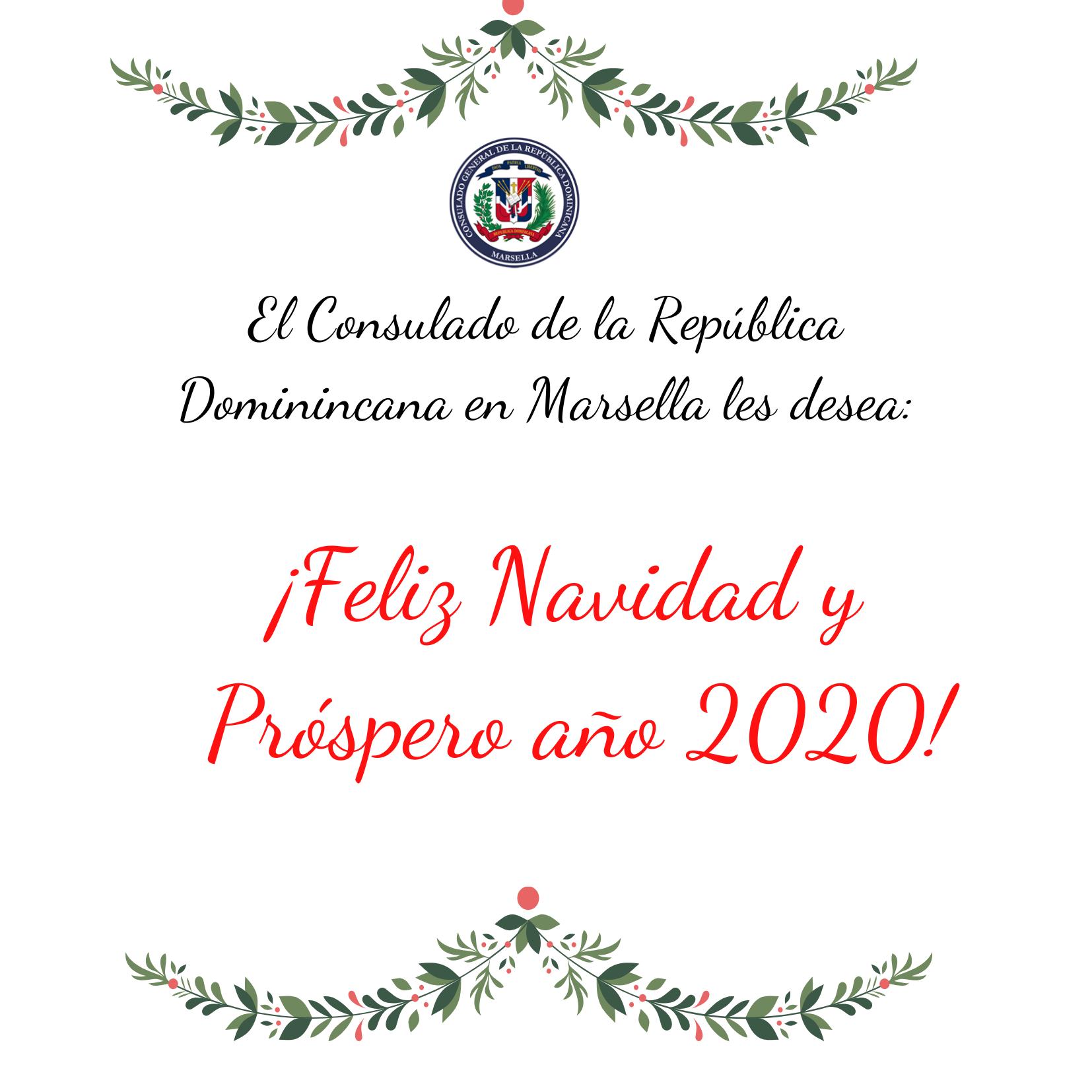 Felicitación de Navidad y Próspero año 2020