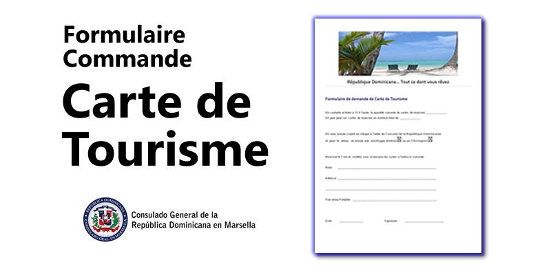 Formulaire Commmande - Carte de Turisme