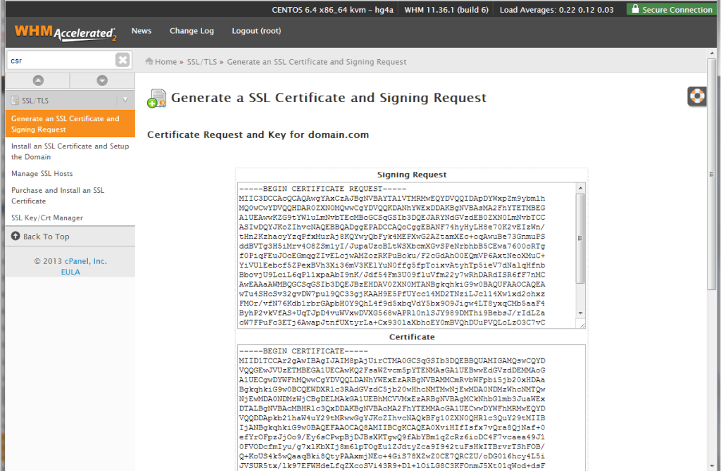 website says not secure