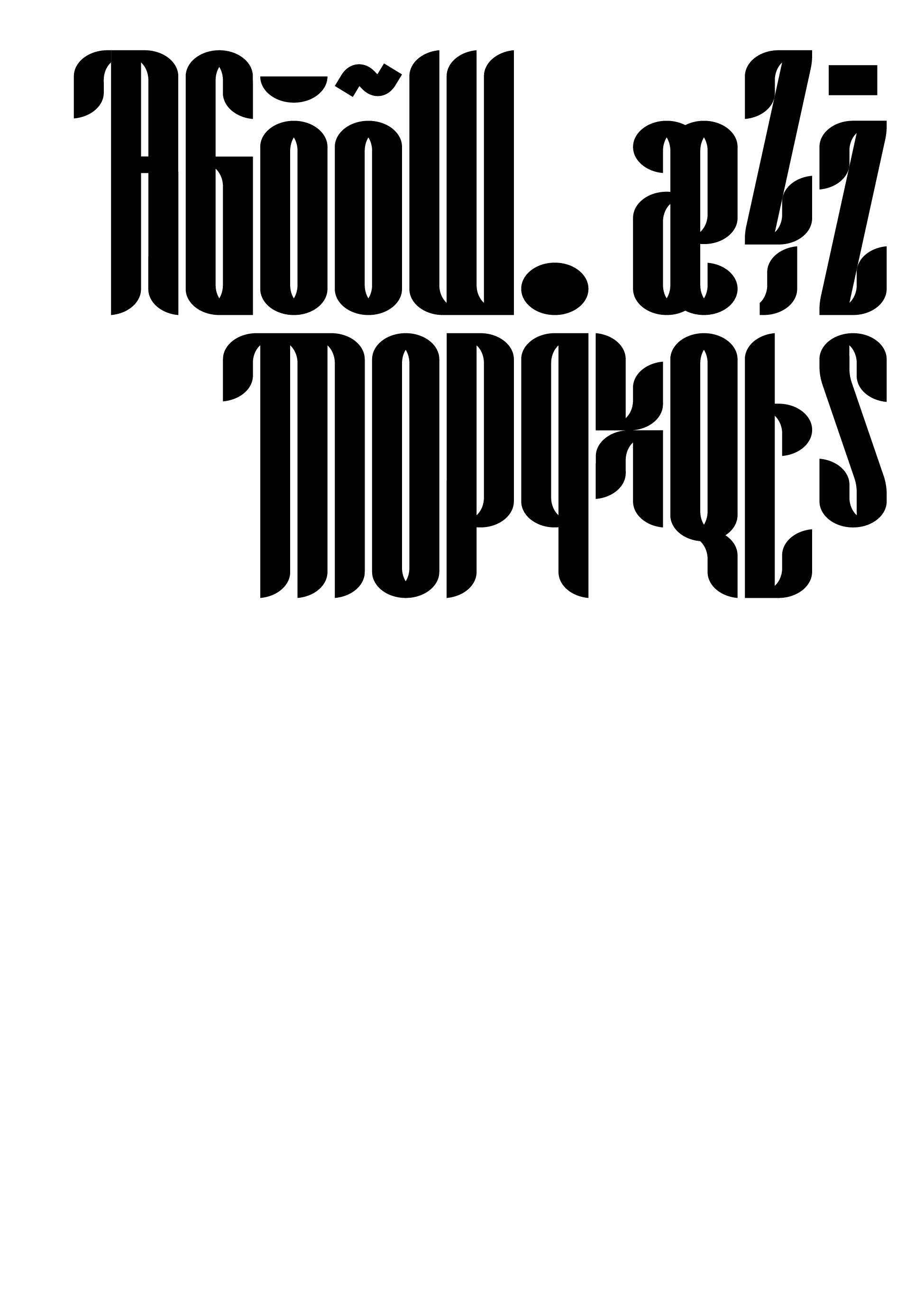 #laurajouan M09 project, typeface, typographic system, typography, Montreal 2009