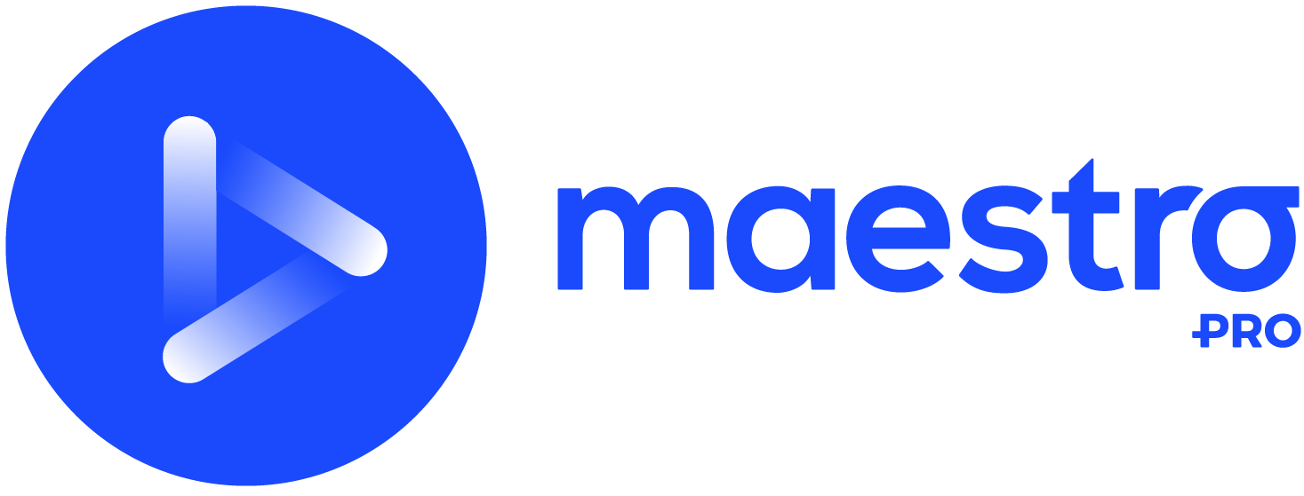 Maestro Pro sininen logo
