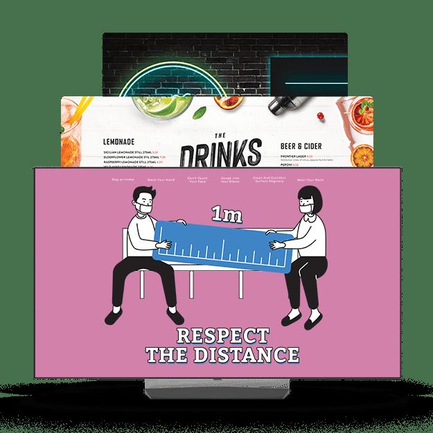 Maestro Pro Digital Signage mainosjärjestelmä ravintoloille