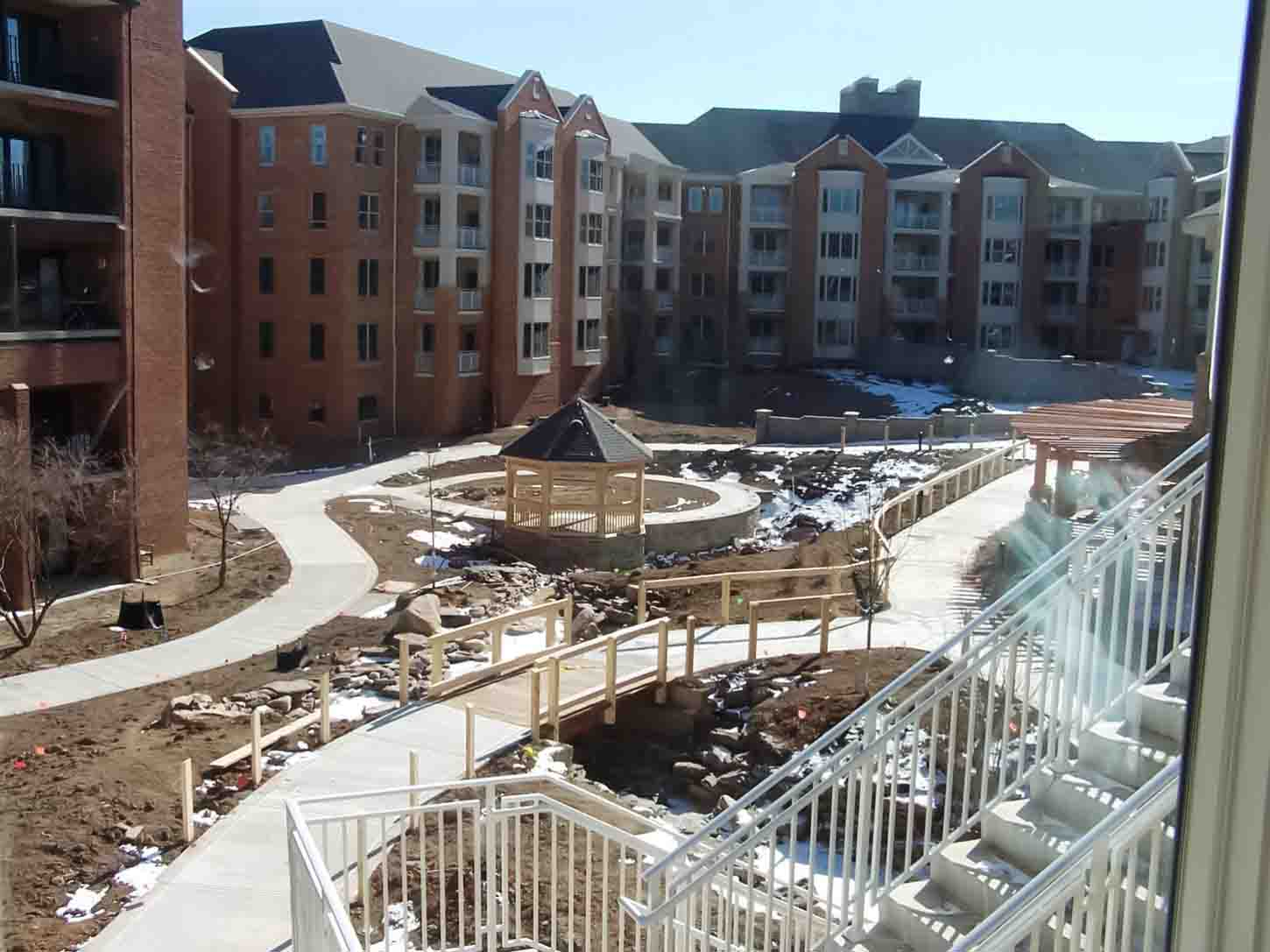 view of courtyard during construction