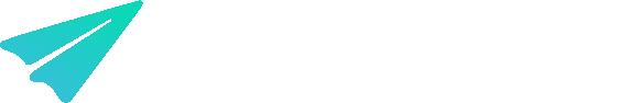 AeroPay Landscape Logo - Gradient White